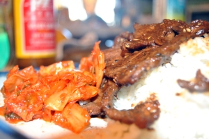 bulgogi and kimchi